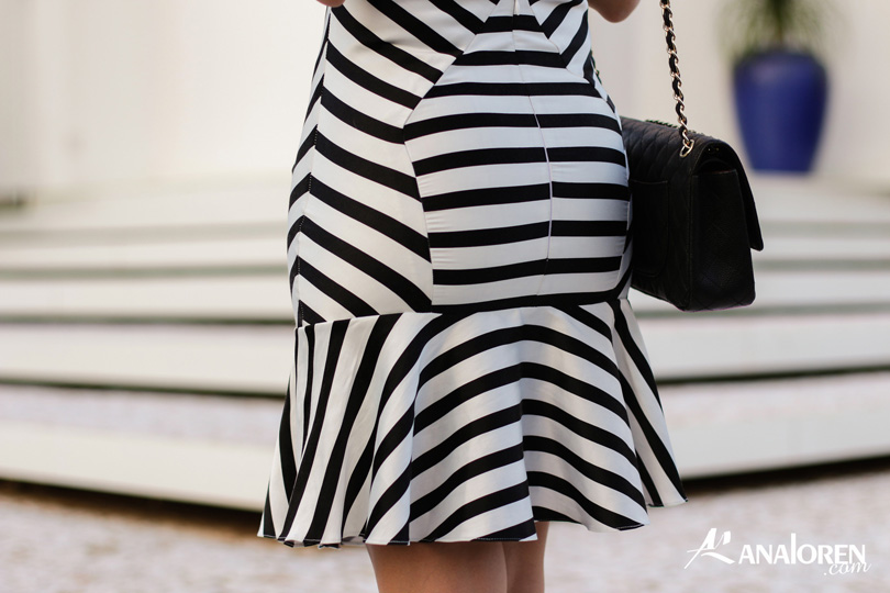 Marina Casemiro,vestido, stripes, analoren, look, decote nas costas, babado, bolsa chanel-11